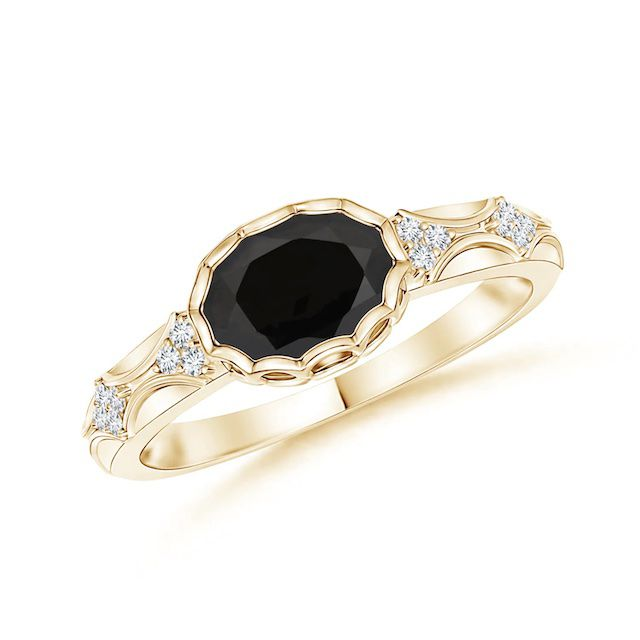 Angara Black Onyx Ring
