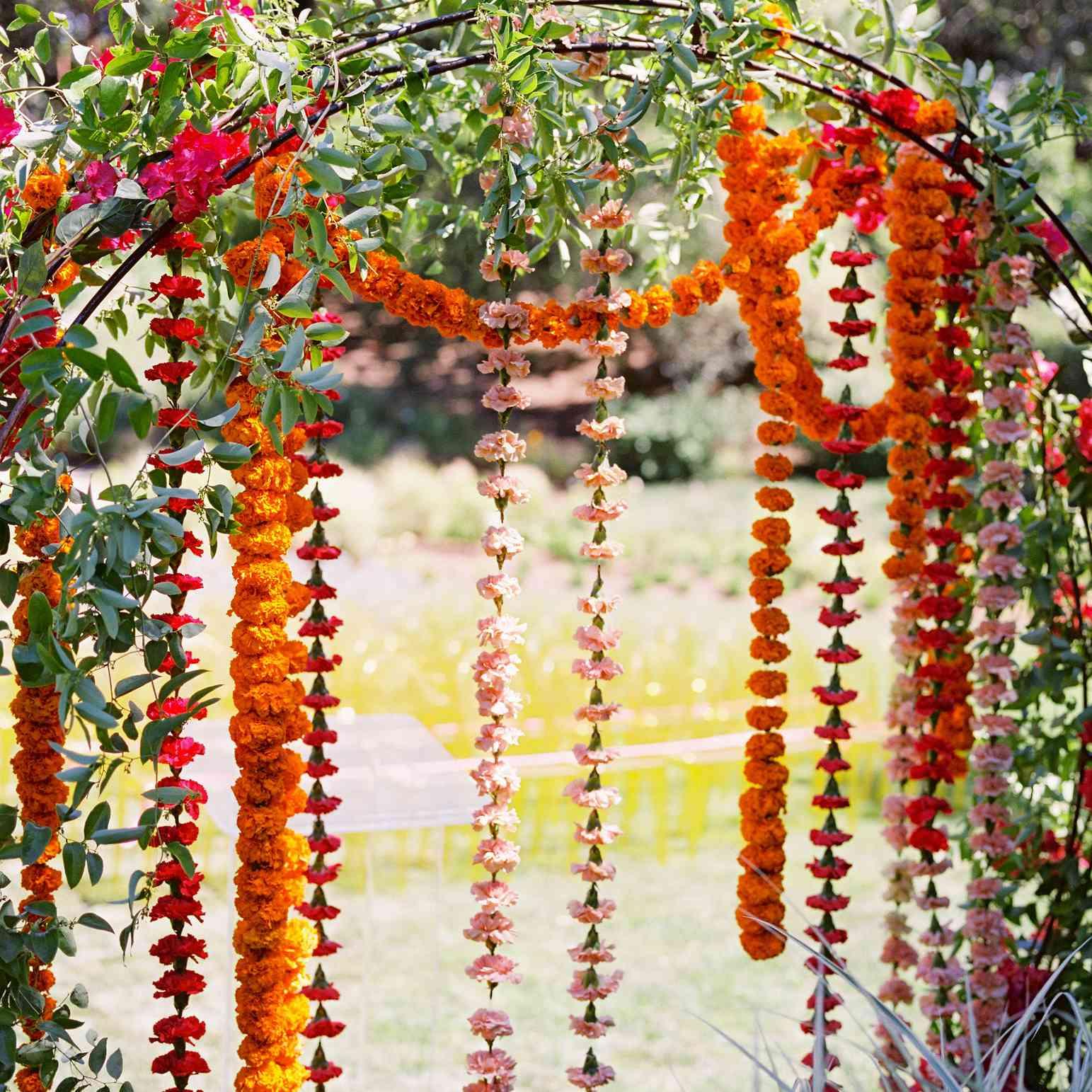 ceremony arch flower details