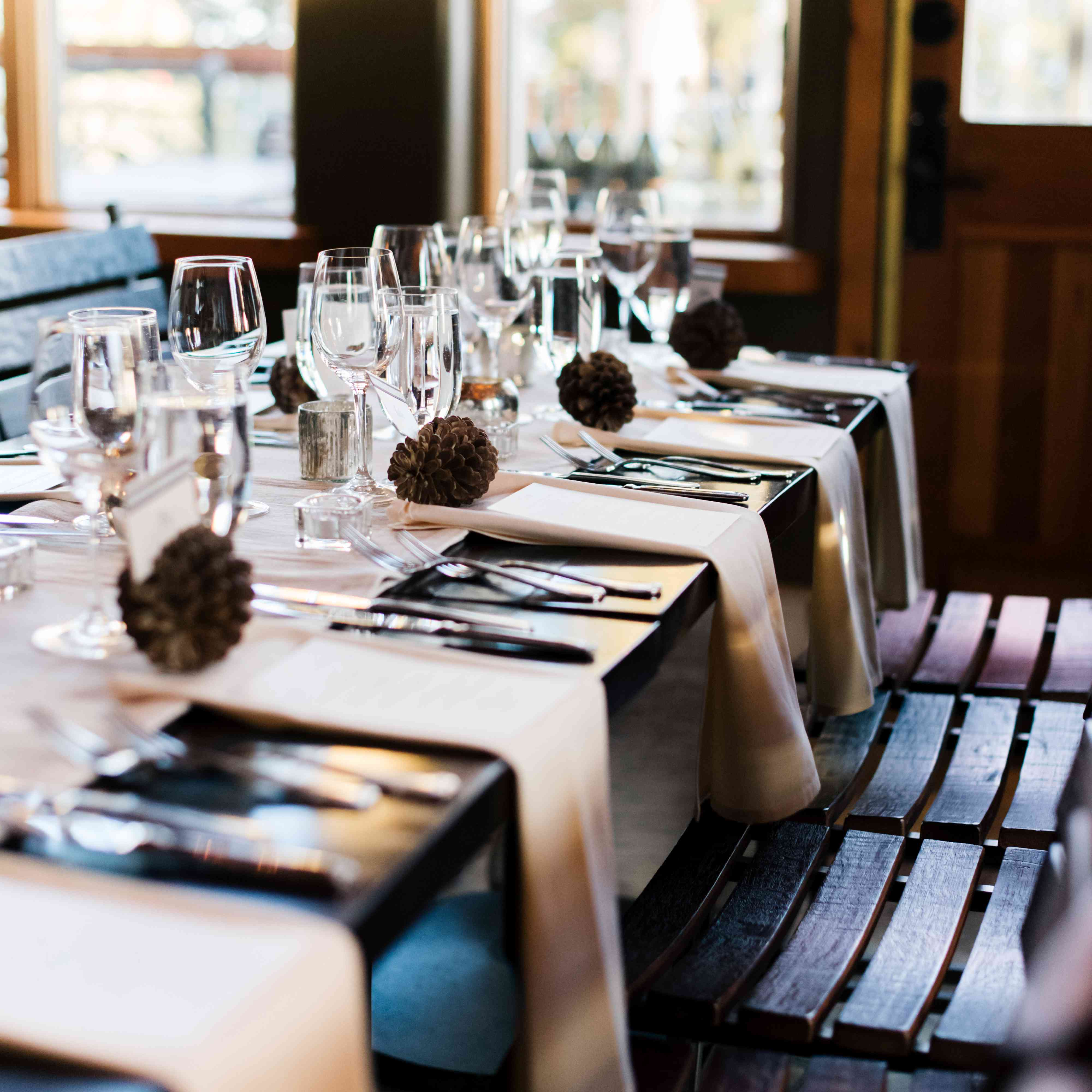wood tablescape