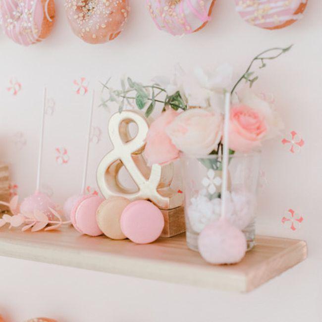 Pretty in pink doughnut wall