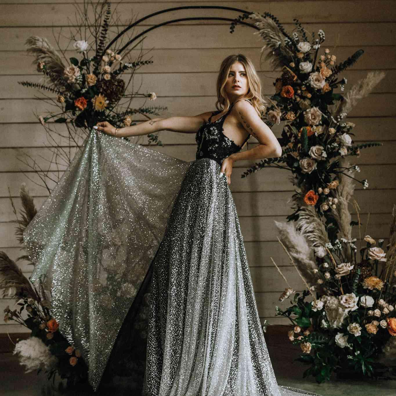 10 Stunning Silver Wedding Dresses for Bold Brides