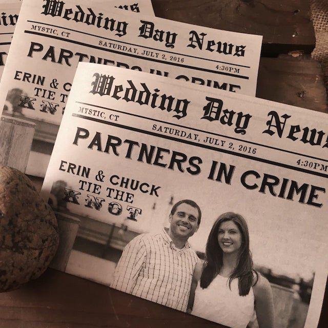 wedding newspaper program