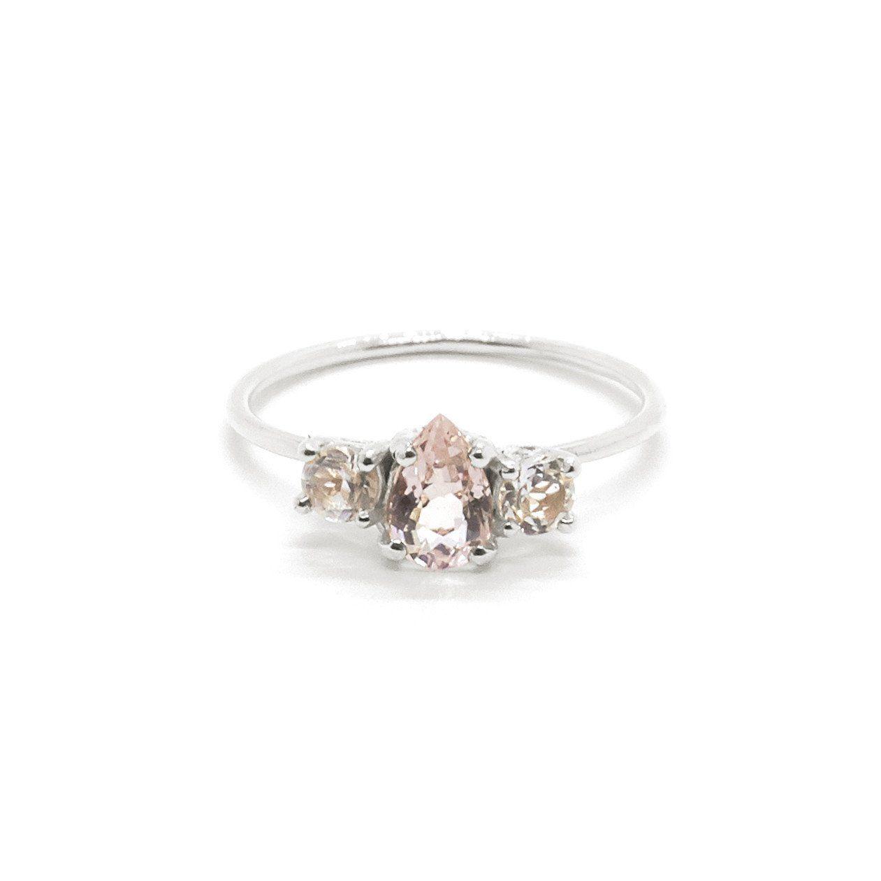 Natalie Marie Pear Trio Ring