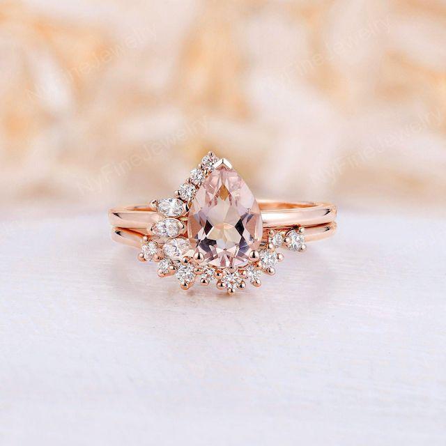 Vintage Morganite Engagement Ring