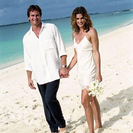 Cindy Crawford marries Rande Gerber in John Galliano, 1998