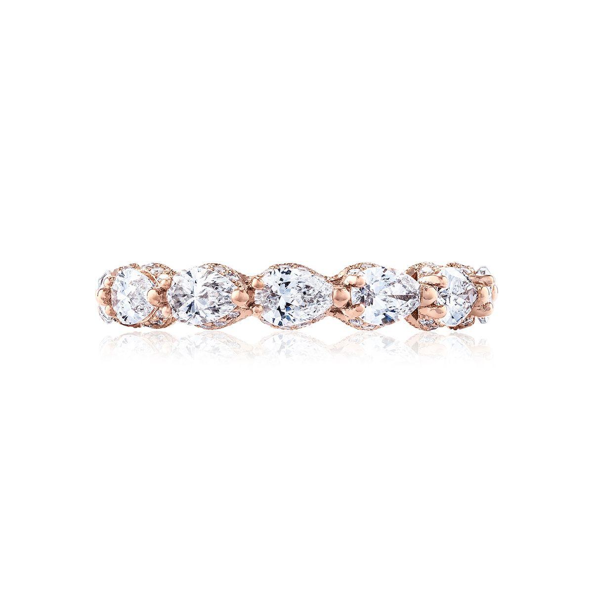 Tacori Royal T Pear Diamond Eternity Band in 18K Rose Gold