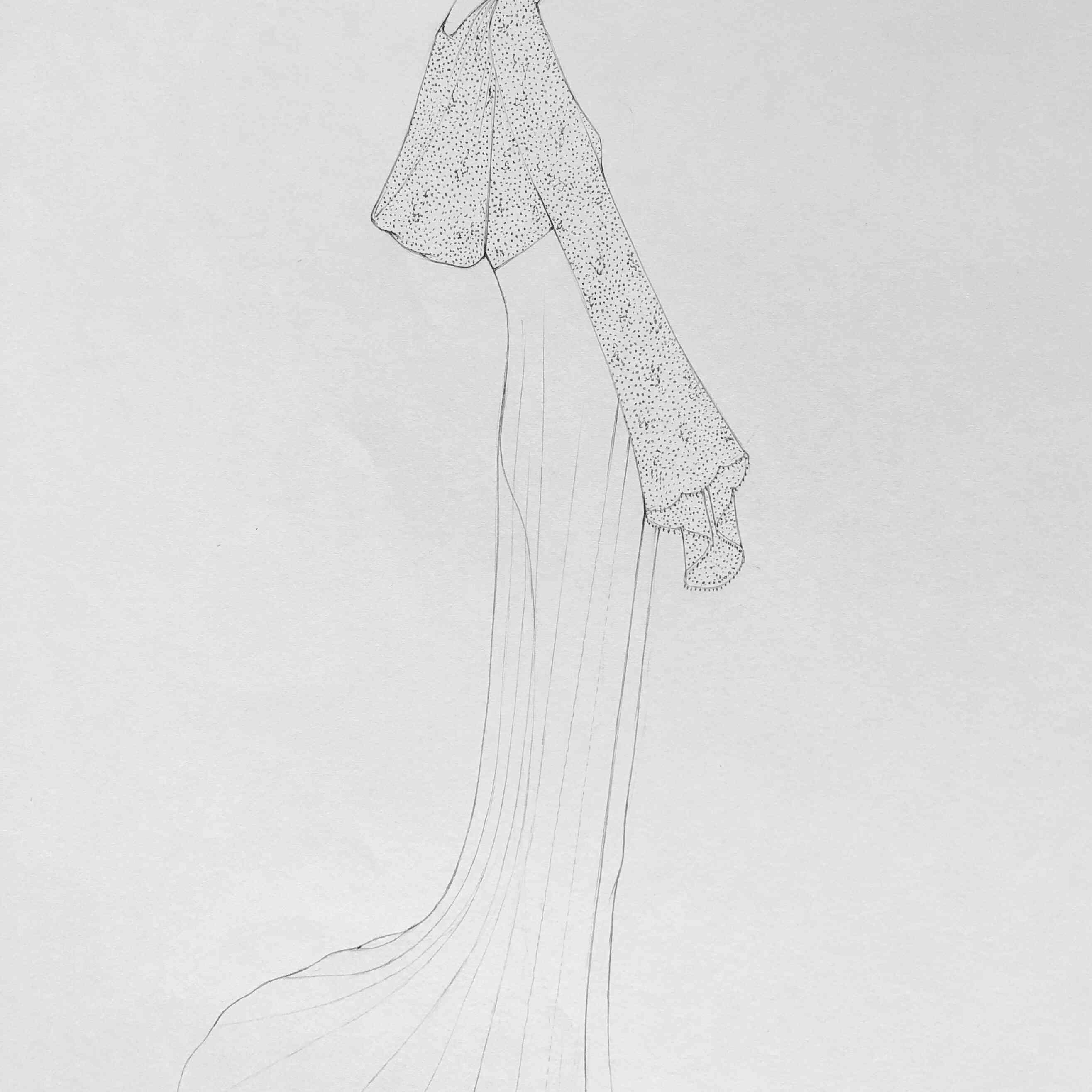 Savannah Miller Bridal Fashion Week Fall 2020 Sketch