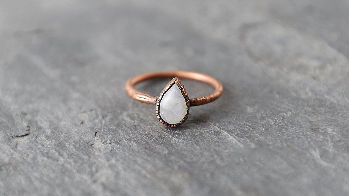 DV Jewels labardorite Gemstone Matte Ring