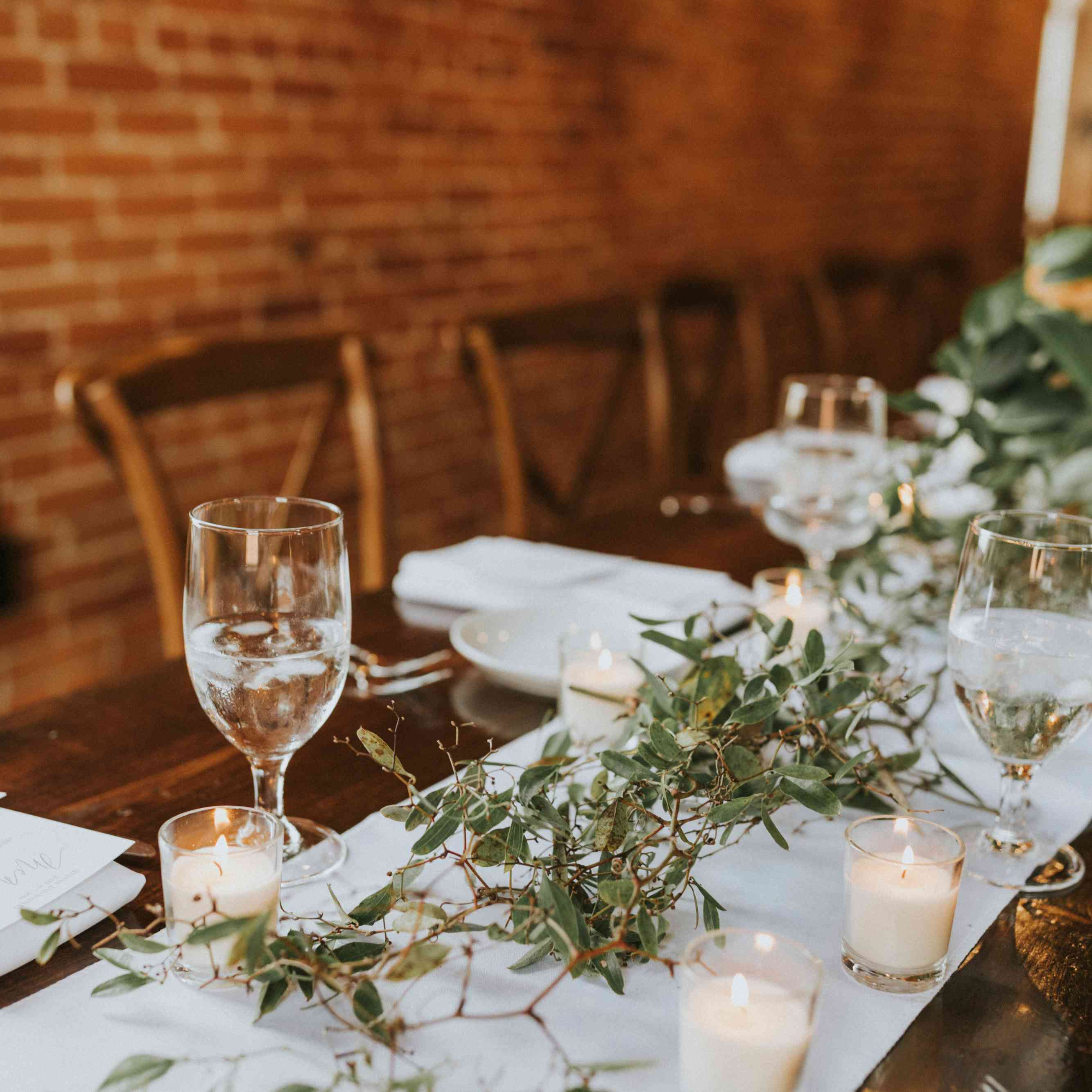 greenery branches centerpiece