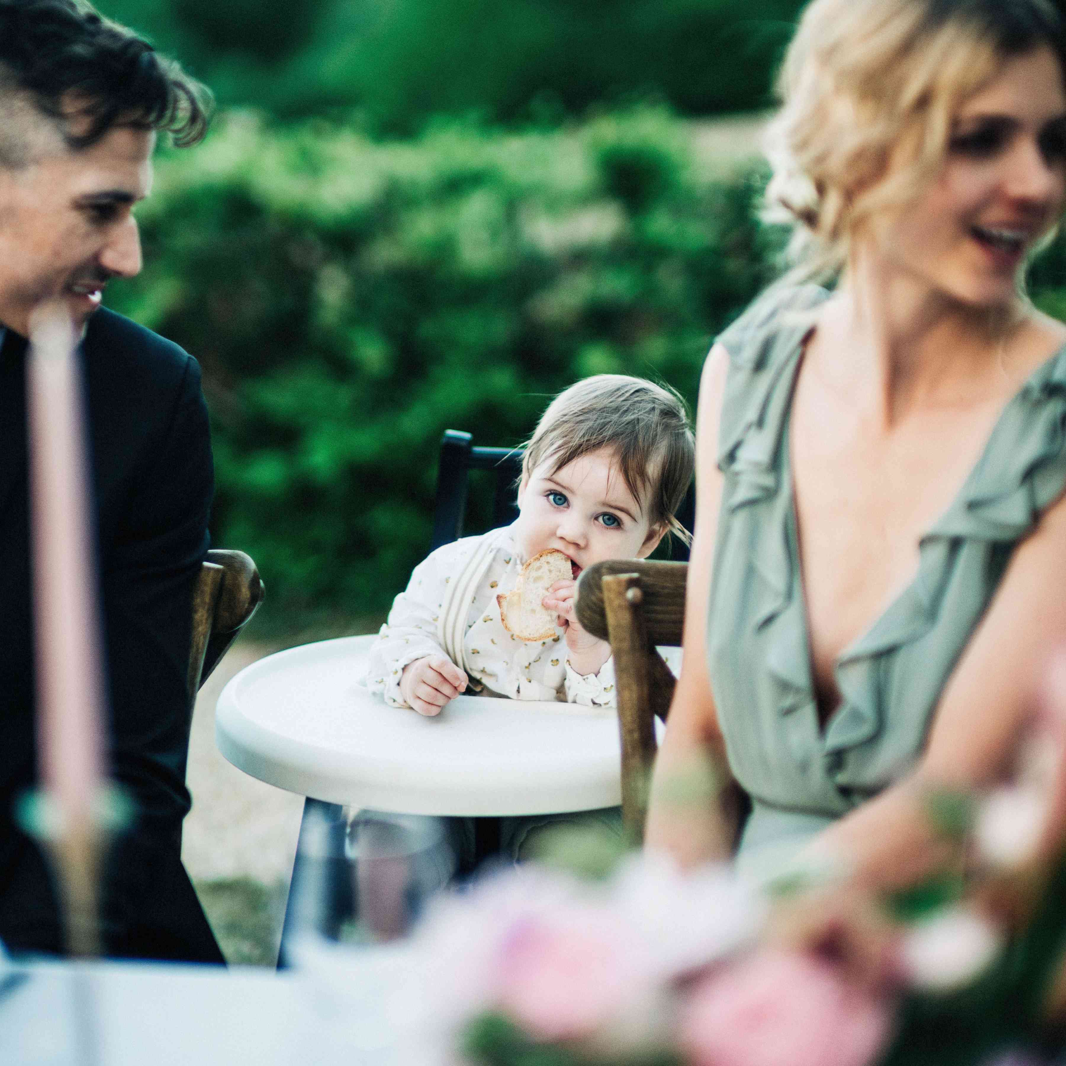 kids and baby at wedding