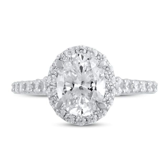 Jared Lab-Created Diamond Engagement Ring 2-3/4 ct tw Oval/Round 14k White Gold