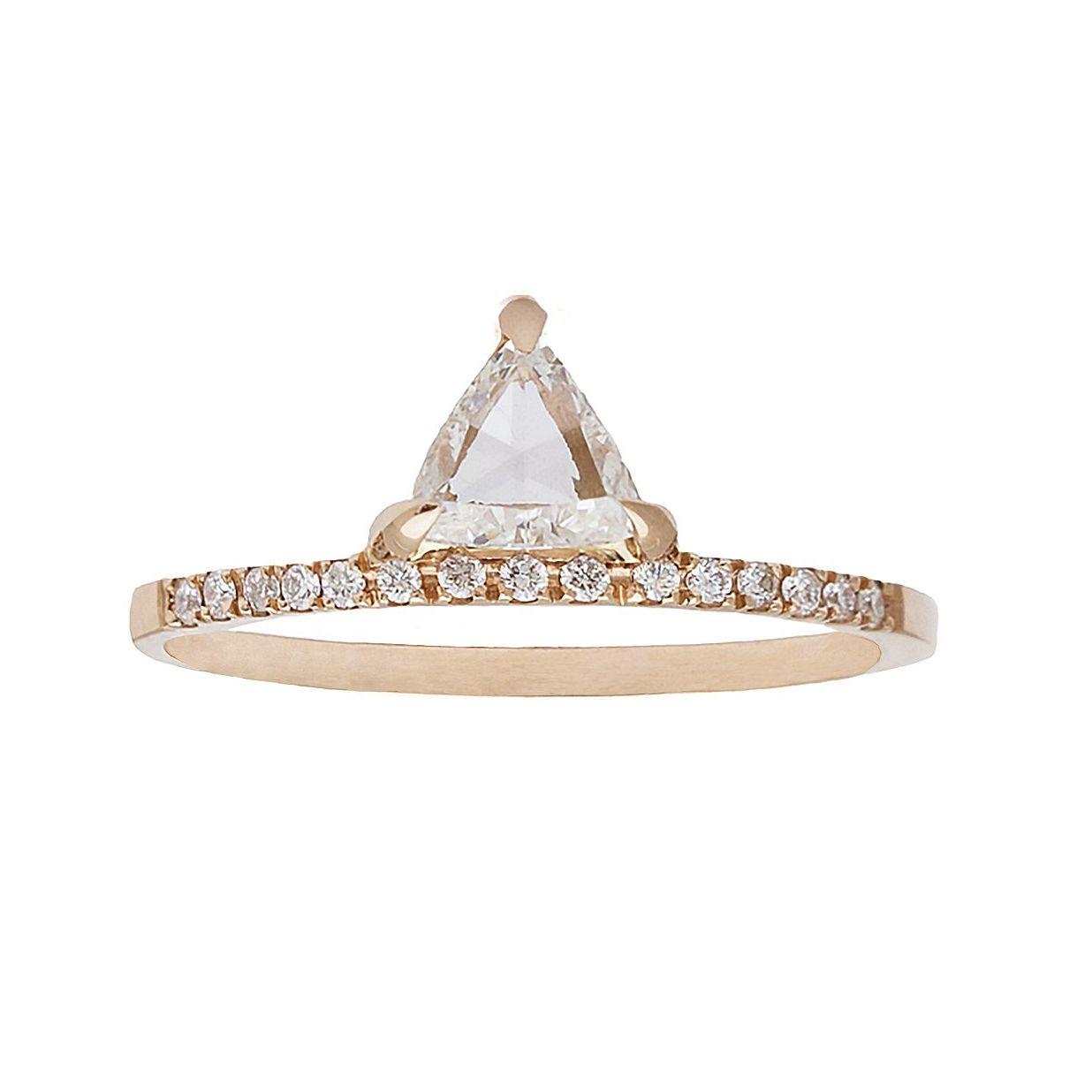 Gillian Conroy Trillion Rose-Cut White Diamond Pavé Ring