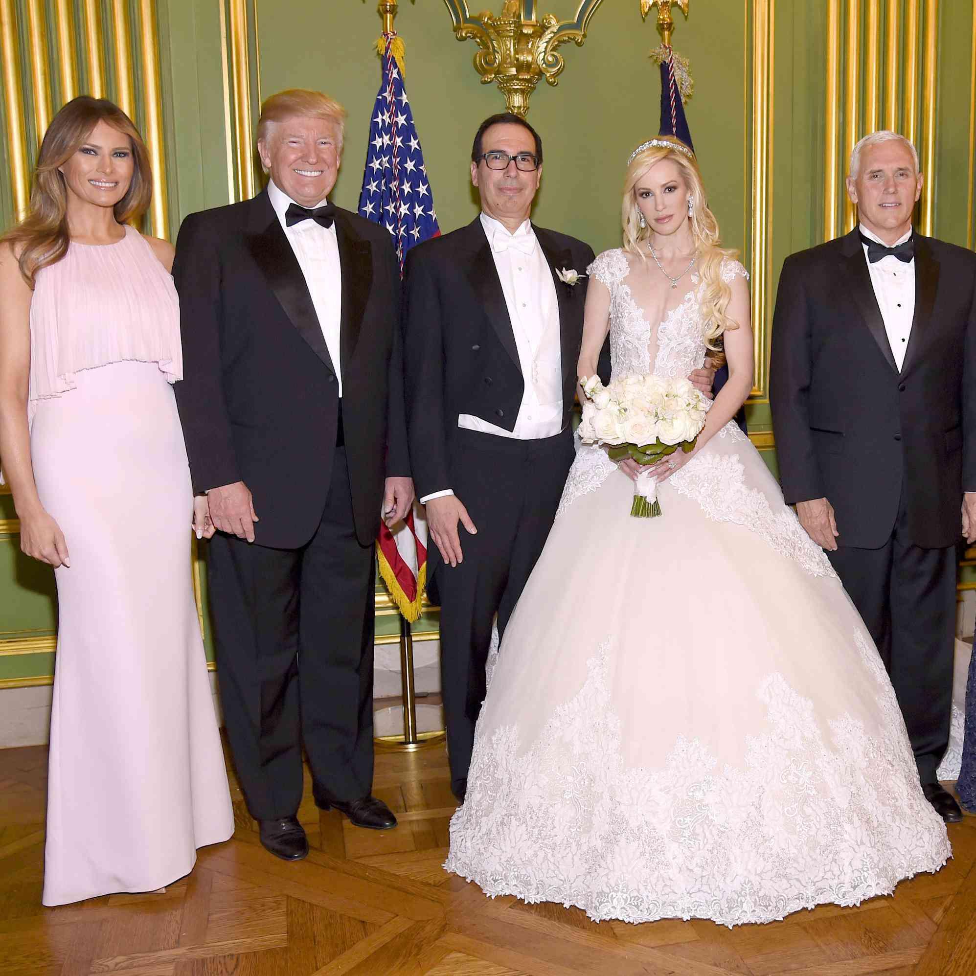 Trump And Melania Wedding.Donald Trump And Melania Attended Treasury Secretary Steven