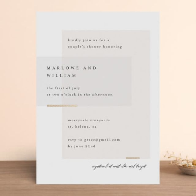 Minted Clean and Modern Bridal Shower Invitation