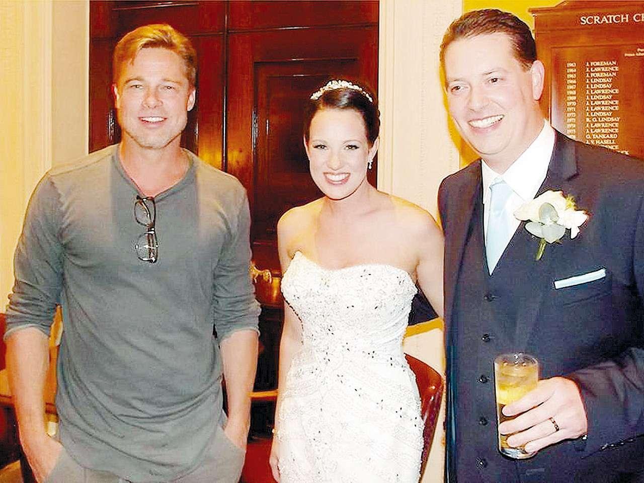 Brad Pitt Crashes Wedding