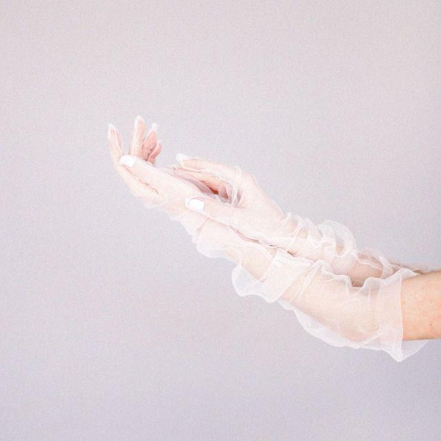 DressbyDulianytska Sheer Tulle Long Gloves