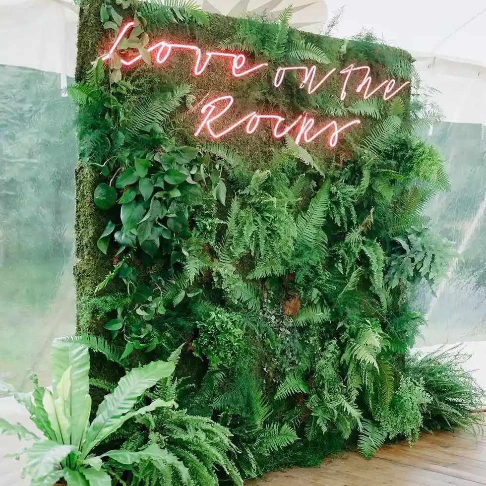 greenery photo backdrop
