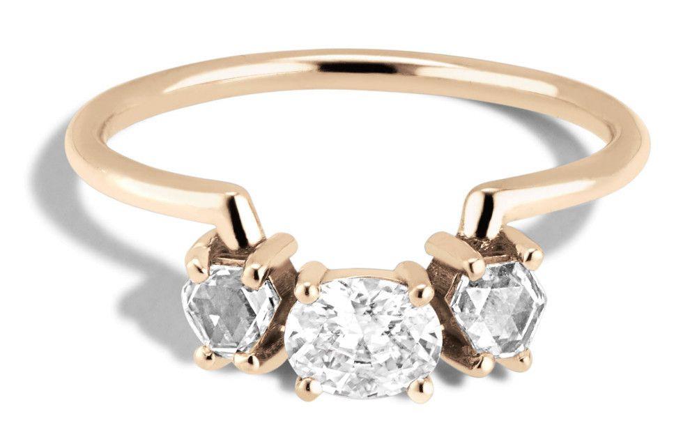 Bario Neal Icon Hex Diamond Oval Ring