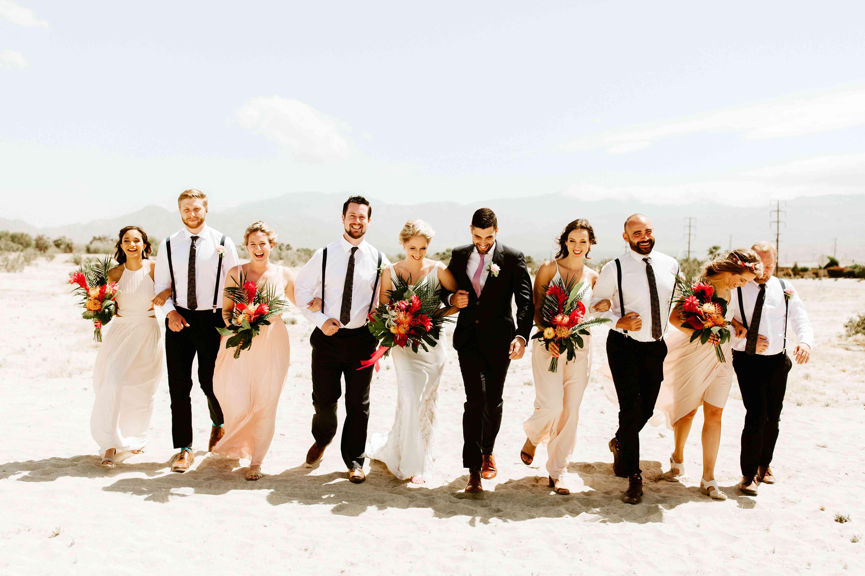 Bridal Party on beach