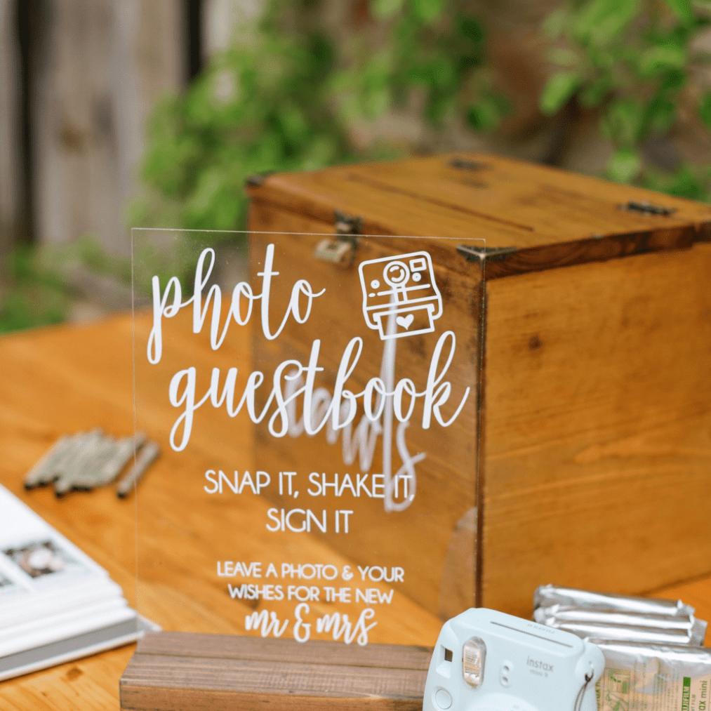Photo Guestbook Box