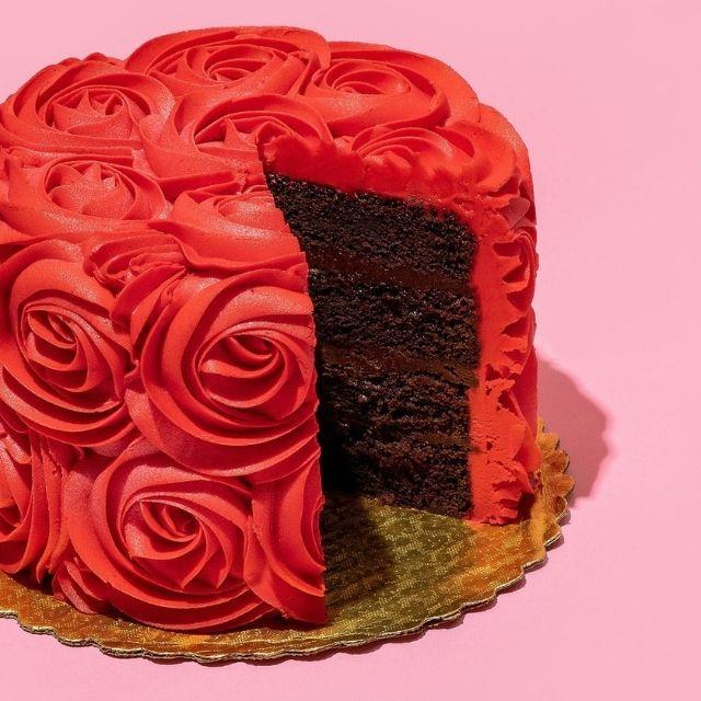 Goldbelly Red Rose Chocolate Cake