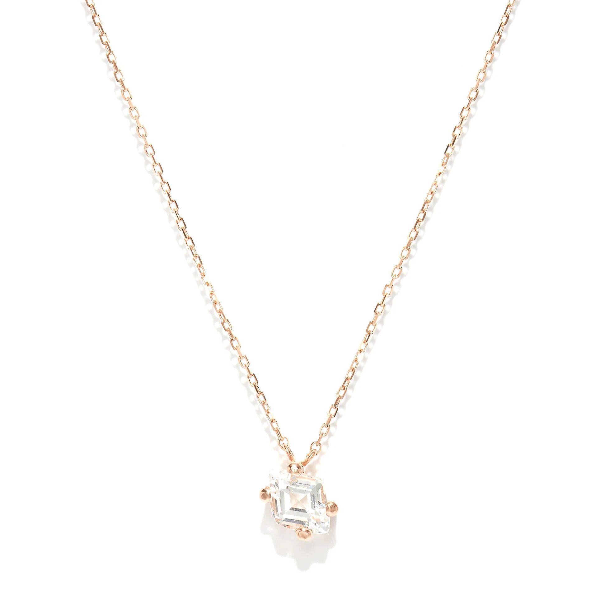 Topaz & 14kt rose-gold necklace