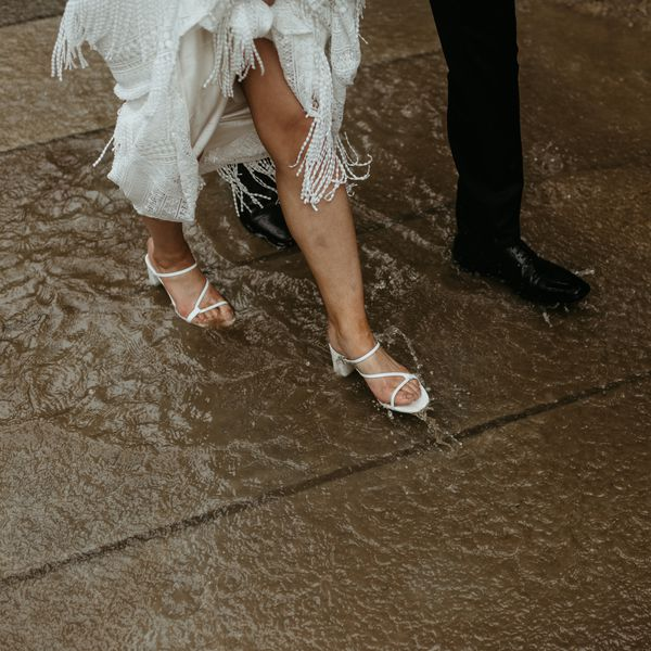 walking in a puddle