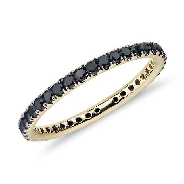 Blue Nile Riviera Noir Black Diamond Ring