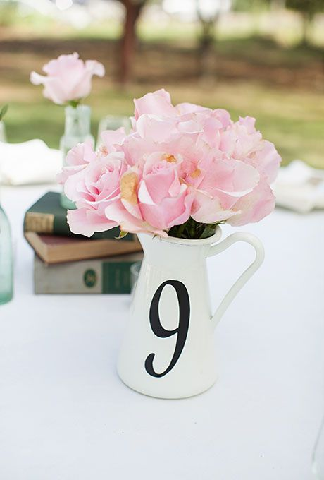 White Pitch used as table number