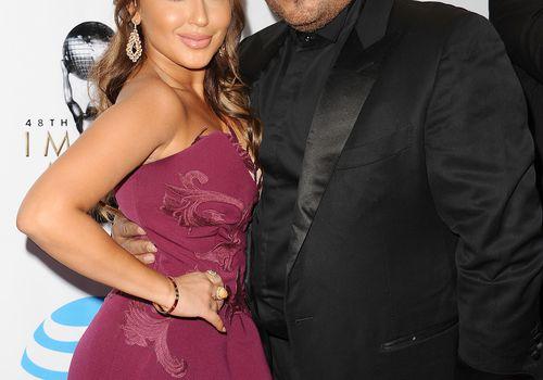 Adrienne Bailon with husband