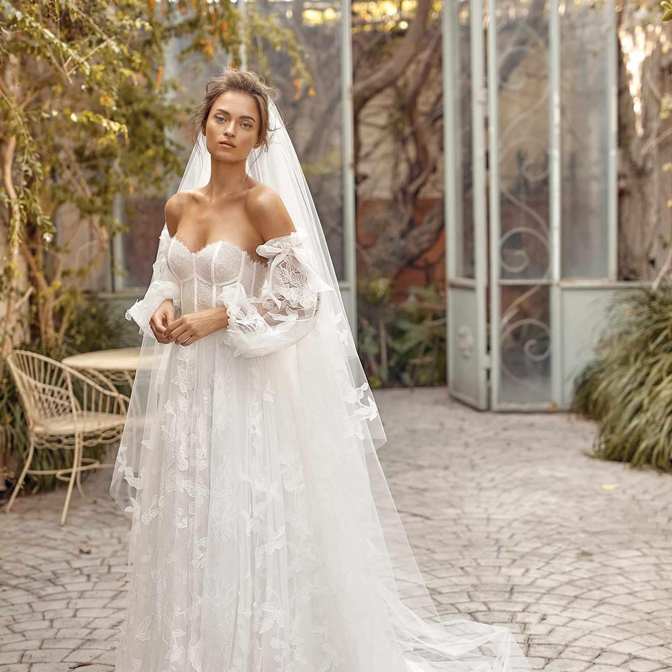 Sunny wedding dress
