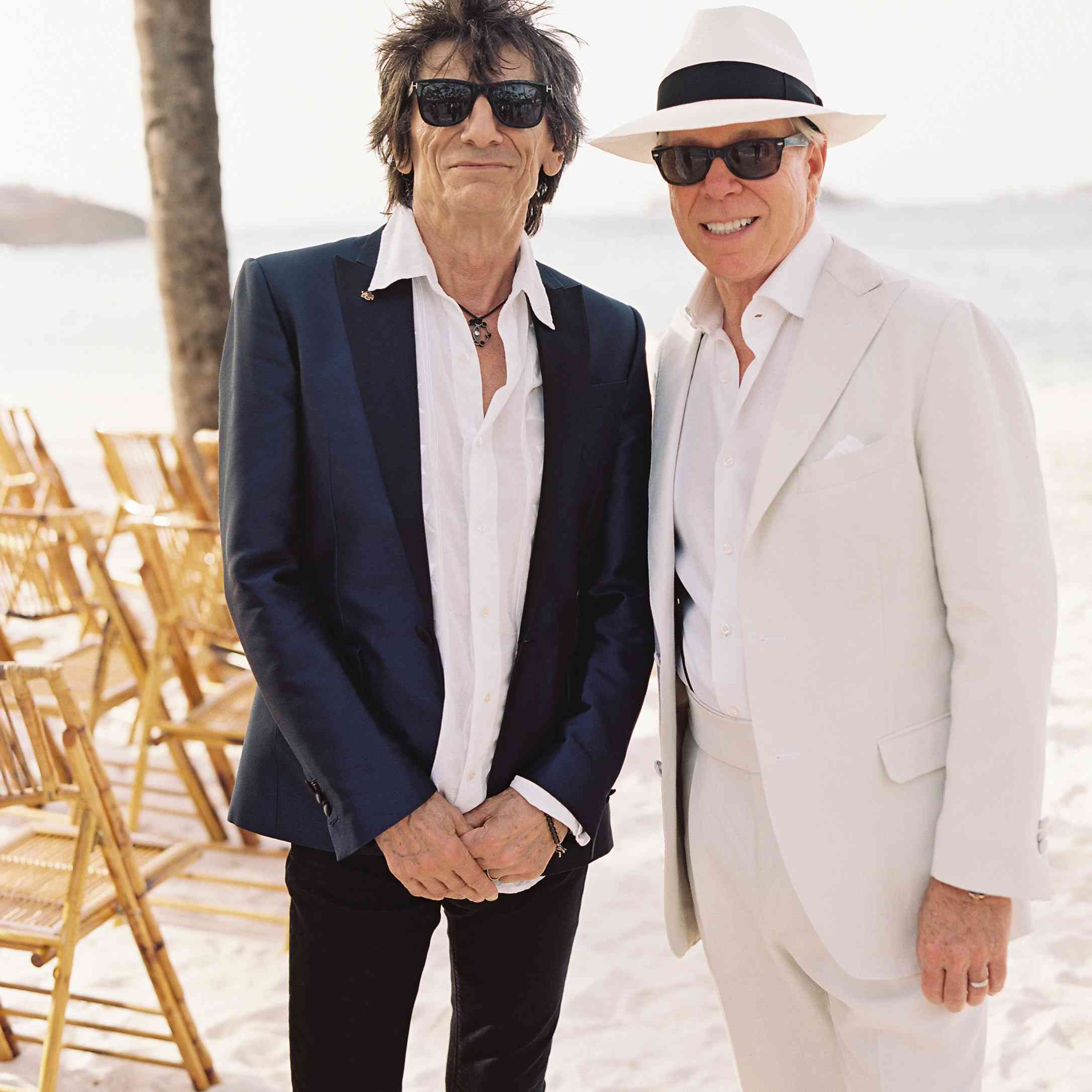 ronnie wood from the rolling stones and tommy hilfiger