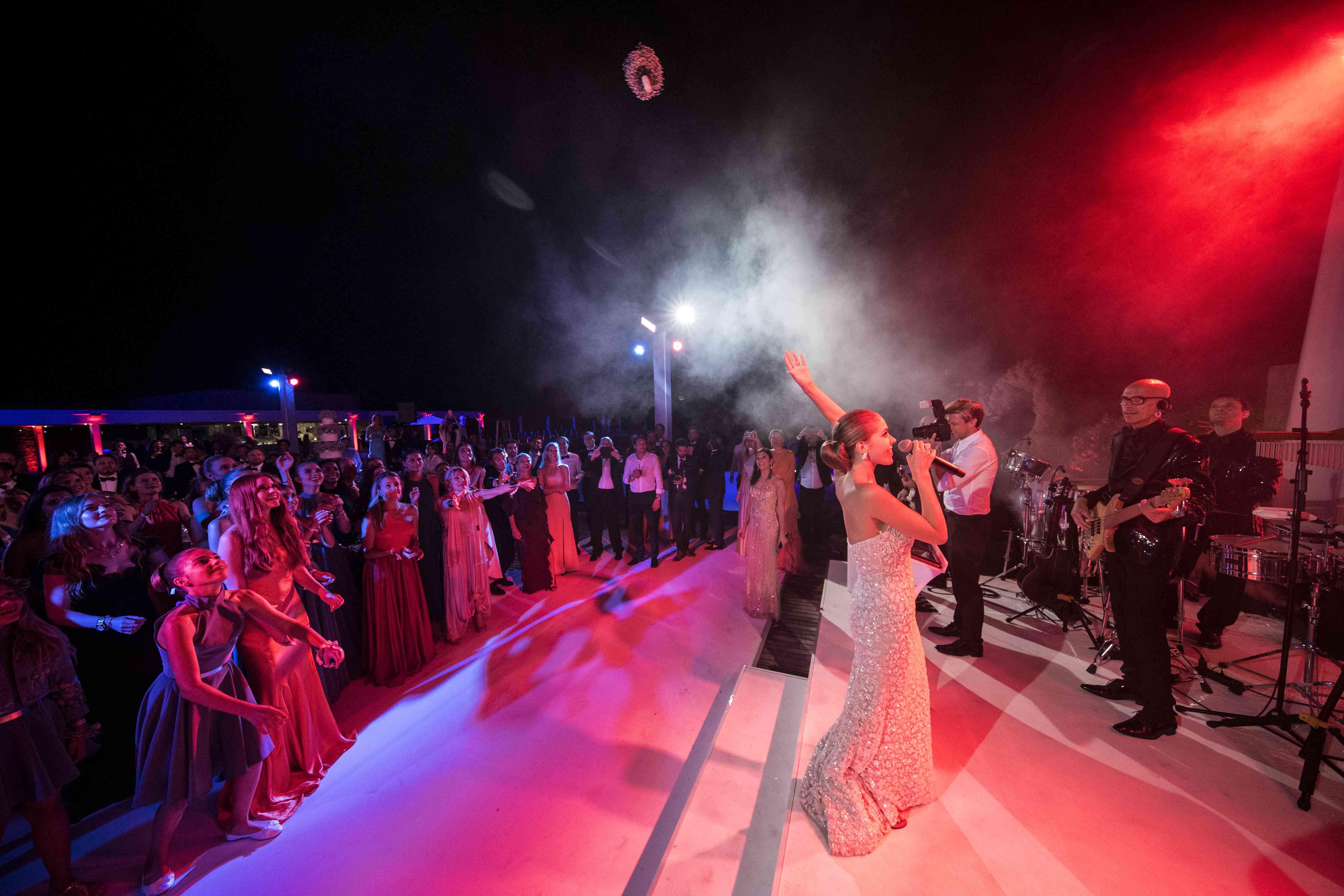 Bride Sings at Reception