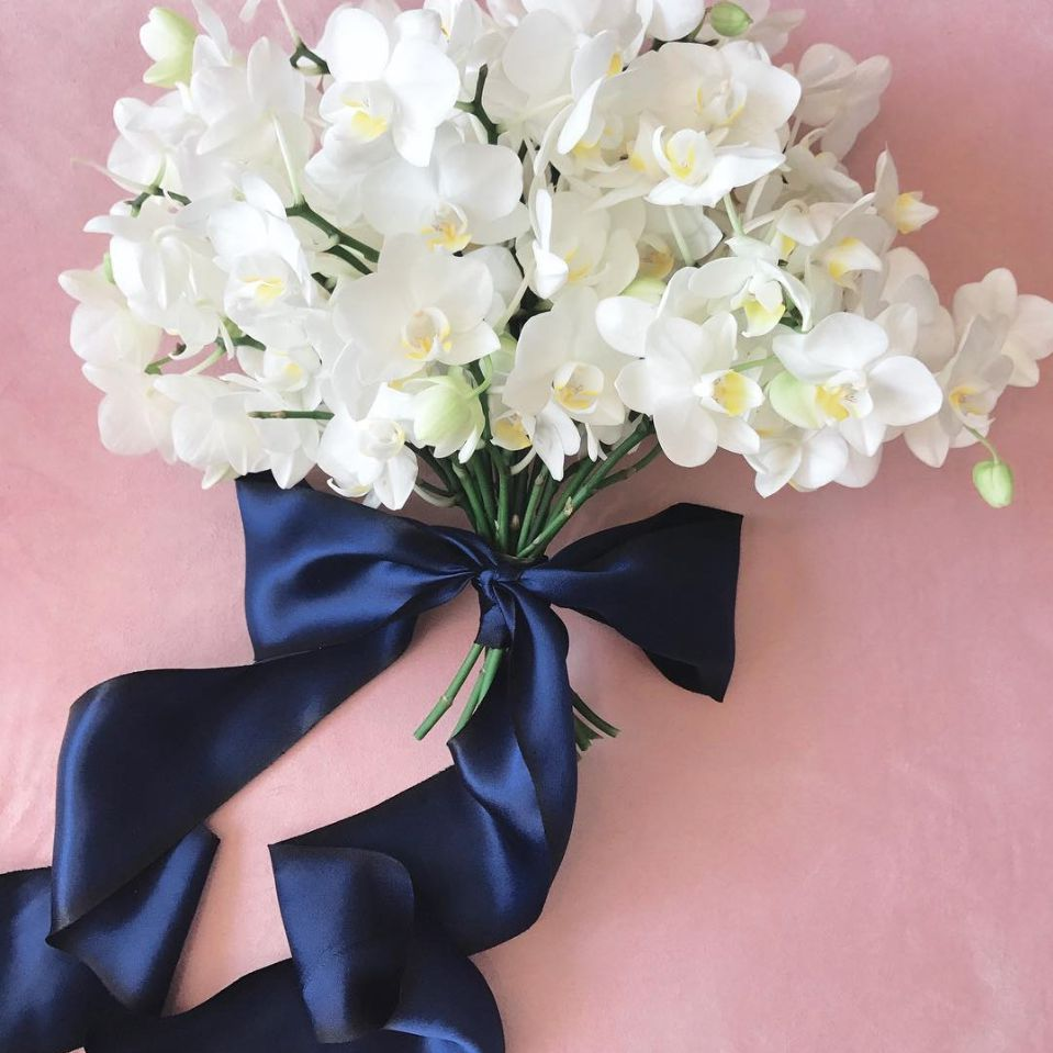 orchid posy wedding bouquet