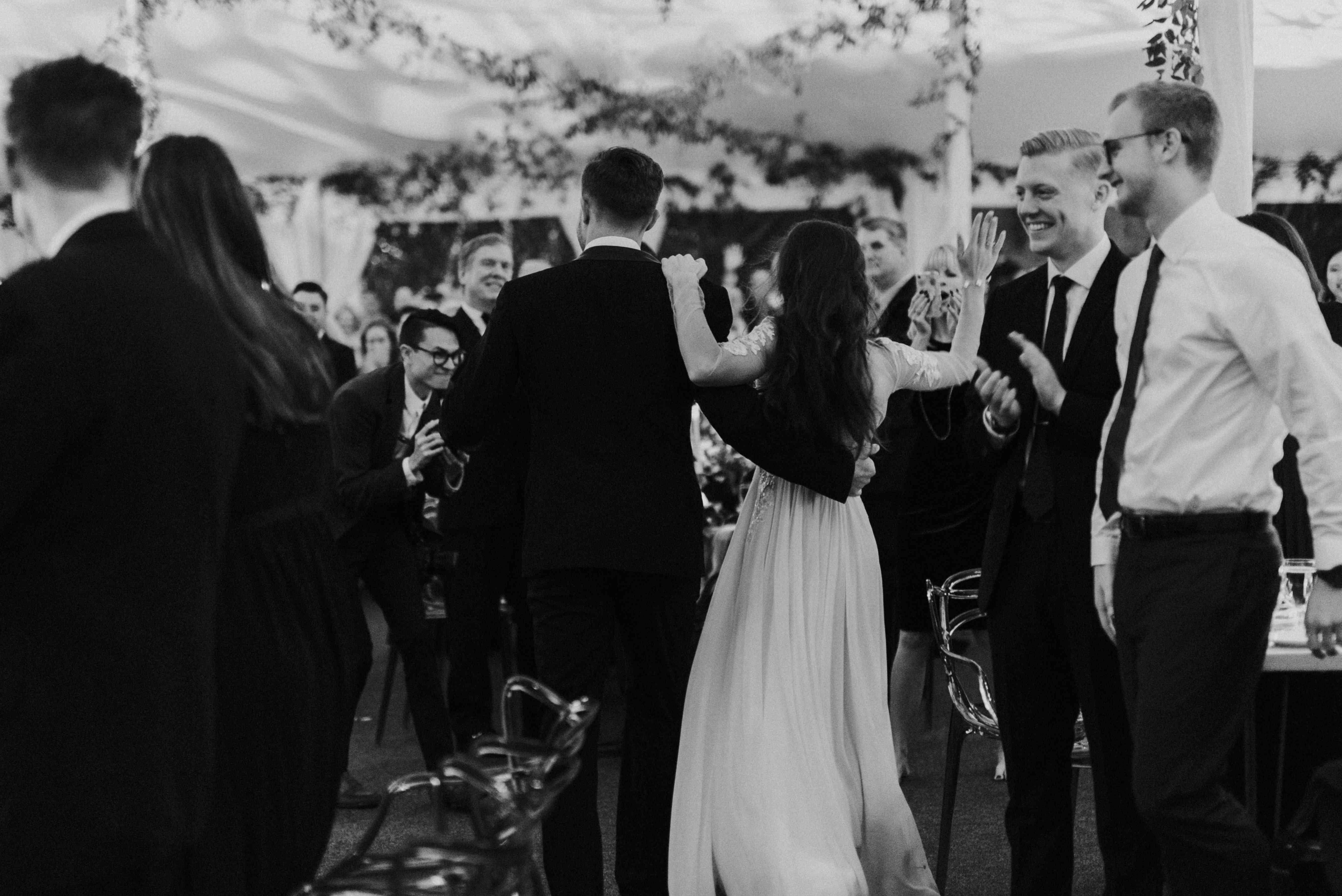 personalized michigan wedding, reception entrance