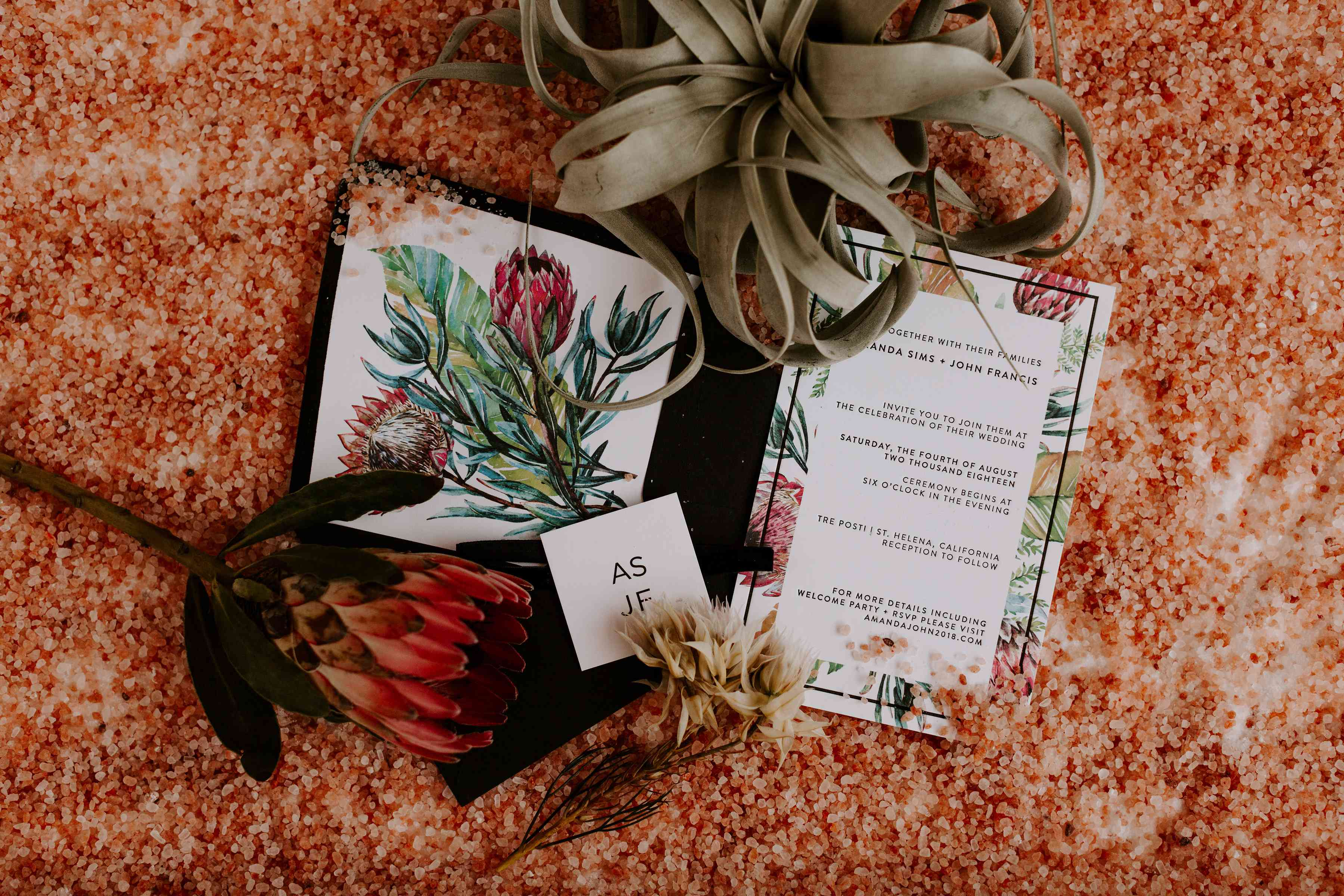 A Desert-Inspired Wedding at a Vineyard in Napa Valley