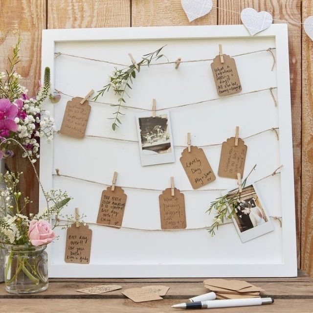 Ginger Ray Peg and String Wedding Sign-in Frame
