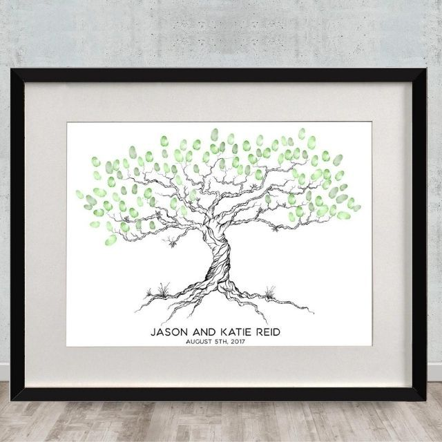 18thAvenueDesigns Personalized Thumbprint Guestbook
