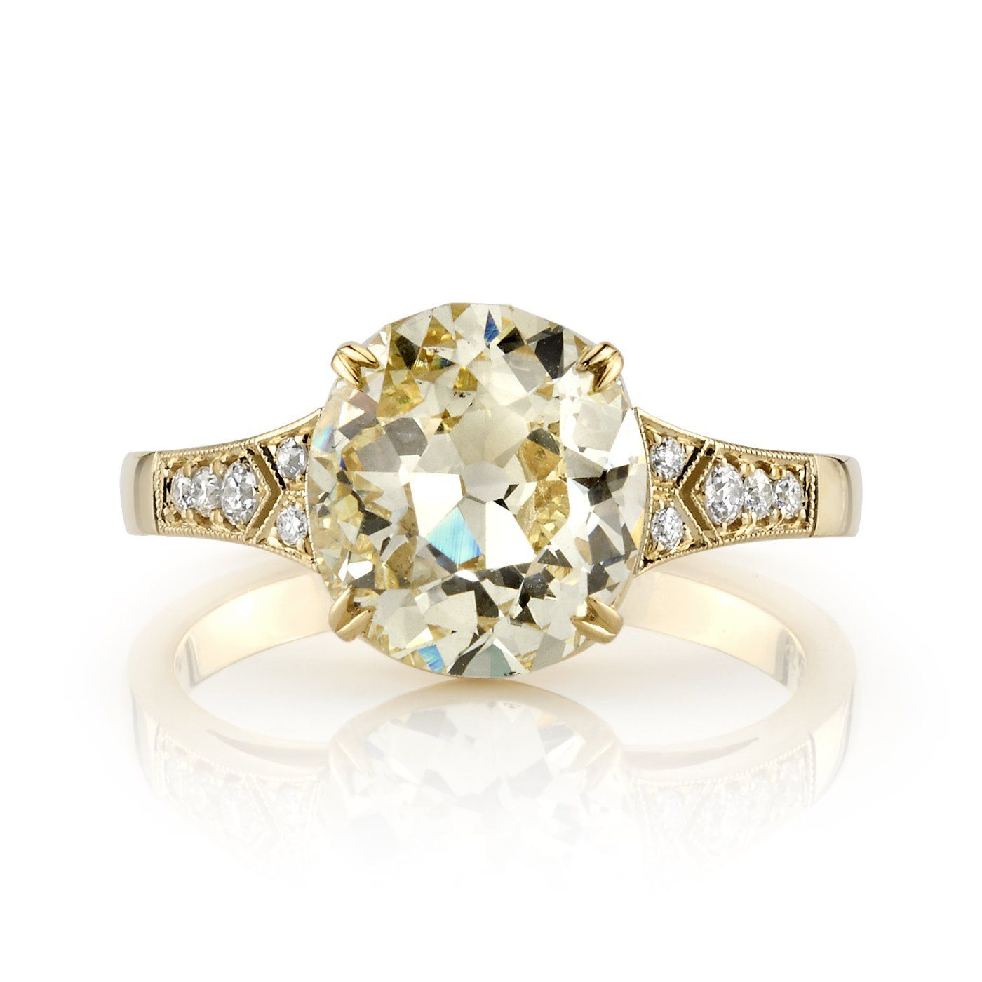 be0b0a95534a6 26 Yellow Diamond Engagement Rings That Are Anything But Boring