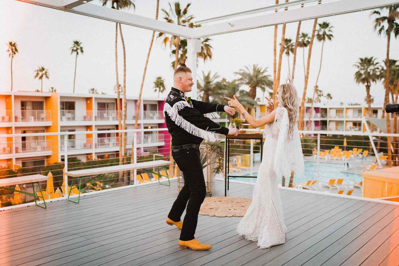 palm springs saguaro hotel elopement
