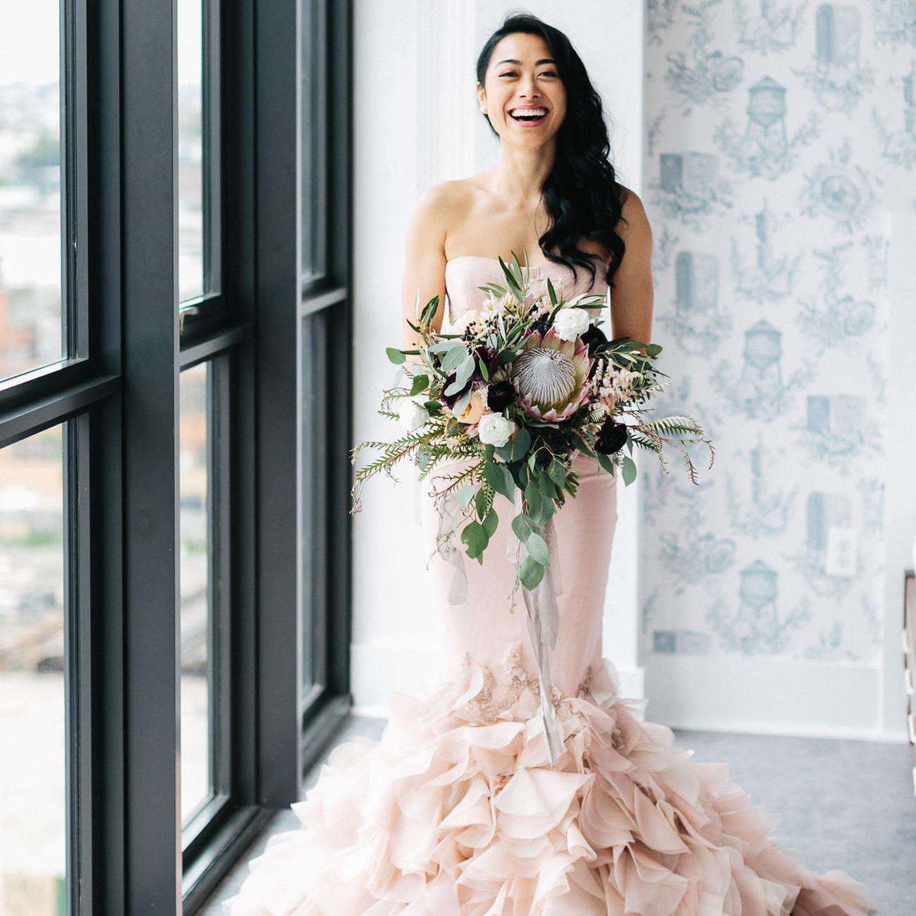 e8d7965043 83 Colorful Wedding Dresses That Prove You Don't Have to Wear White