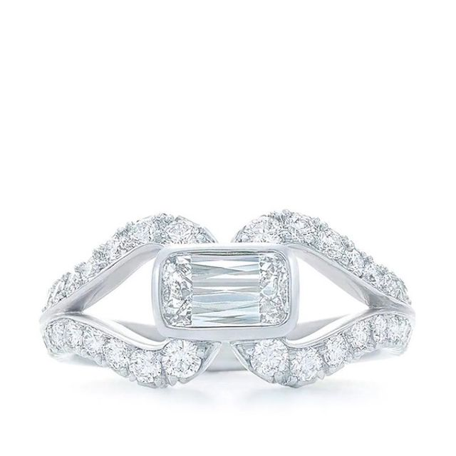 East-West Ashoka diamond ring