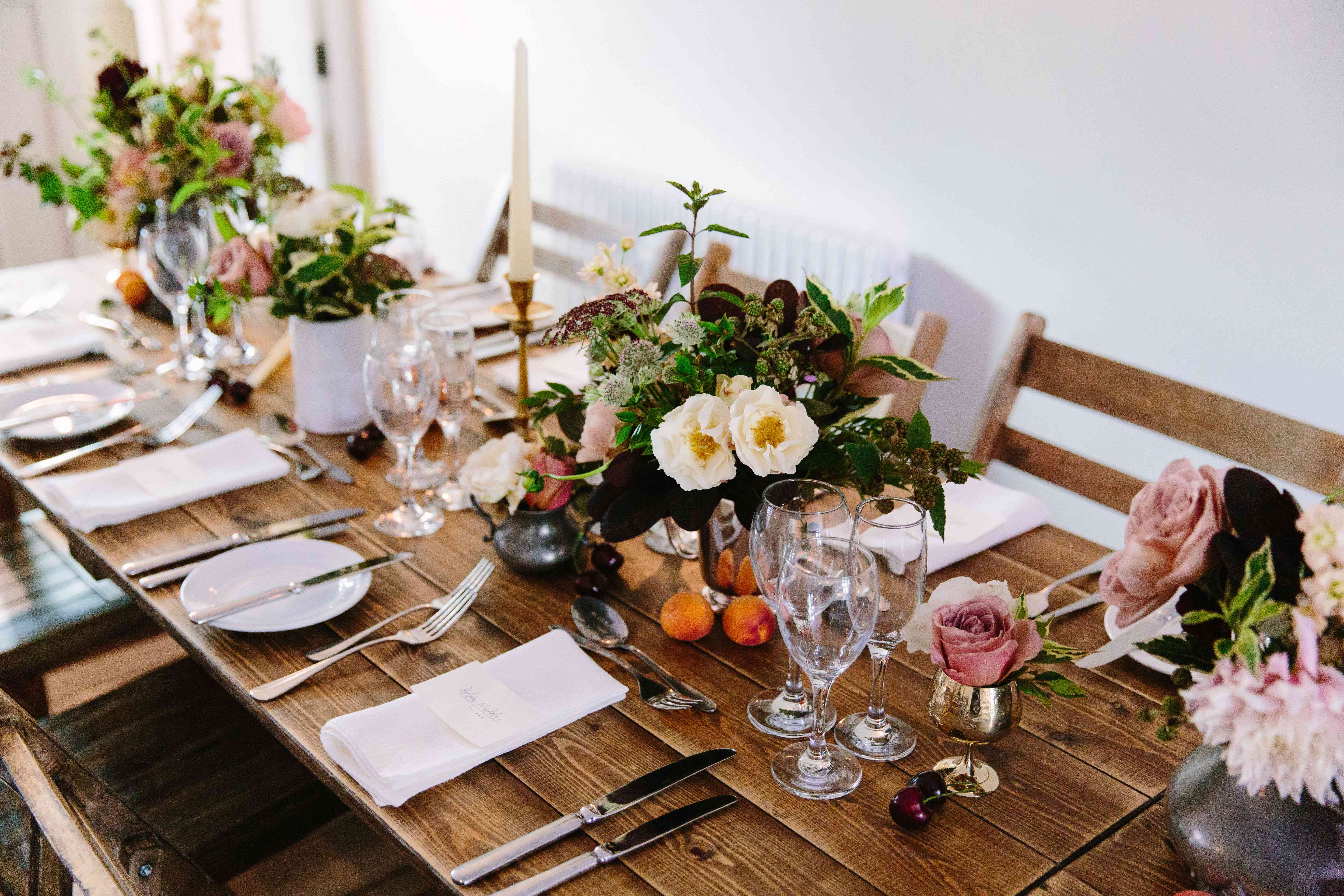 Reception Table With Fruit
