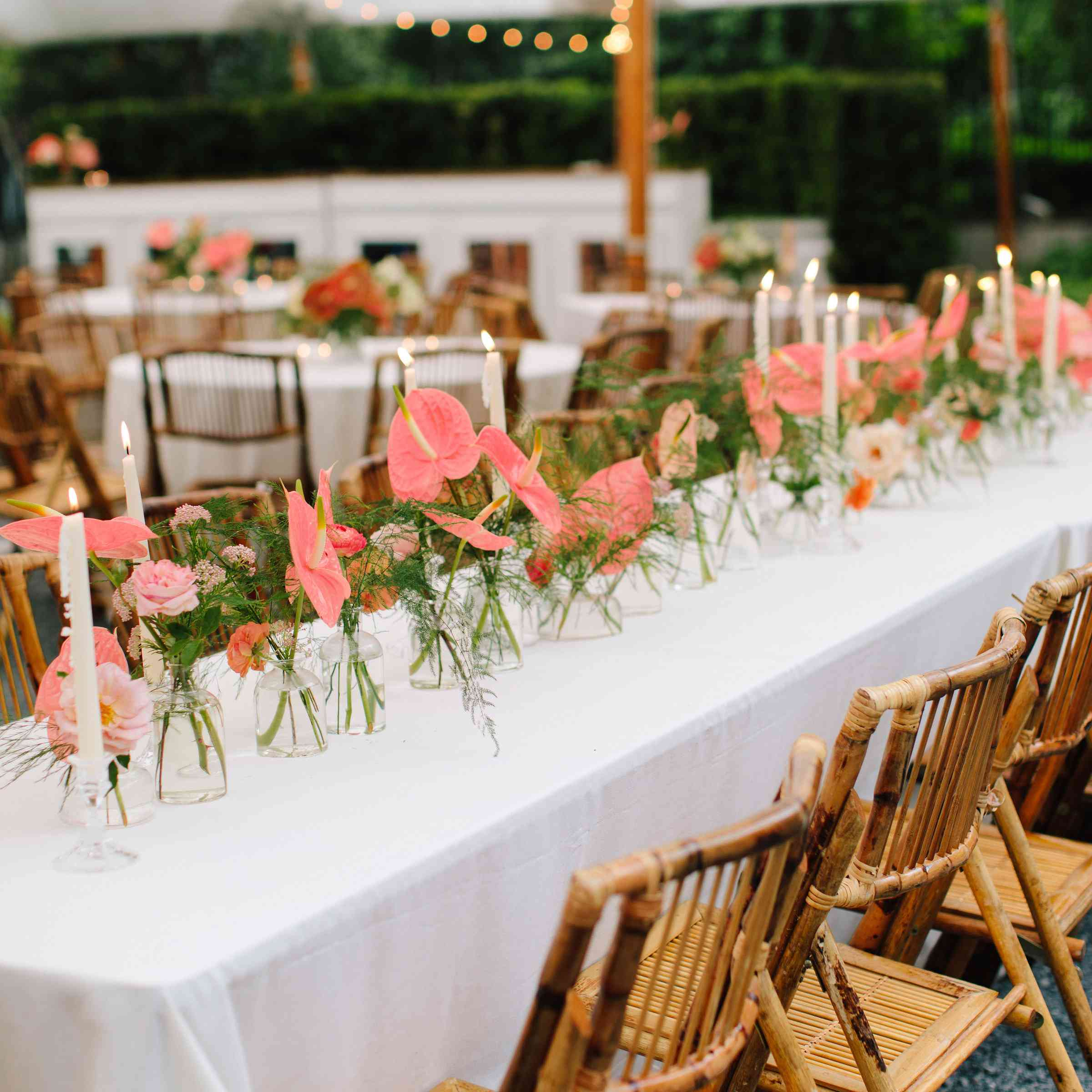 colorful tent wedding reception