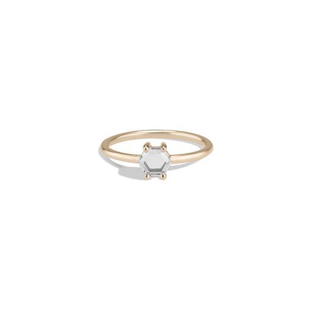 Bario Neal Kalmia Hex White Sapphire Ring