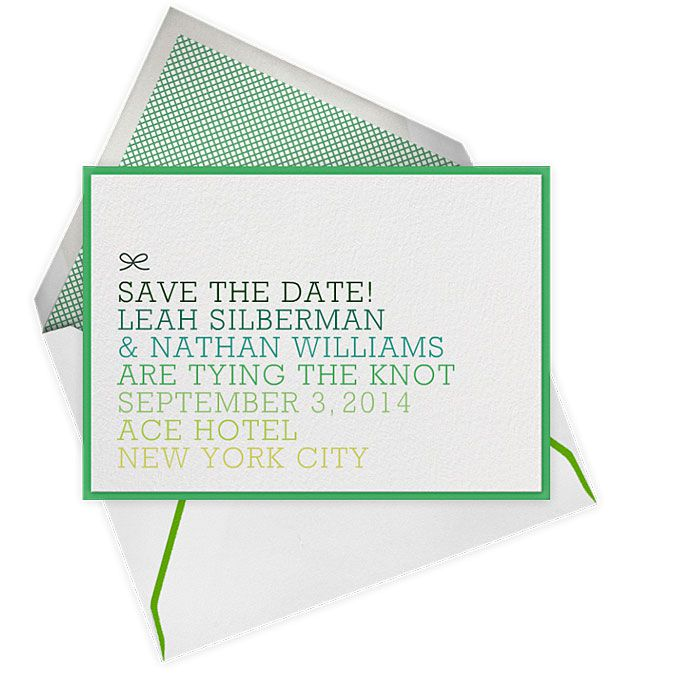 Save-the-Date Cards For A Spring Wedding
