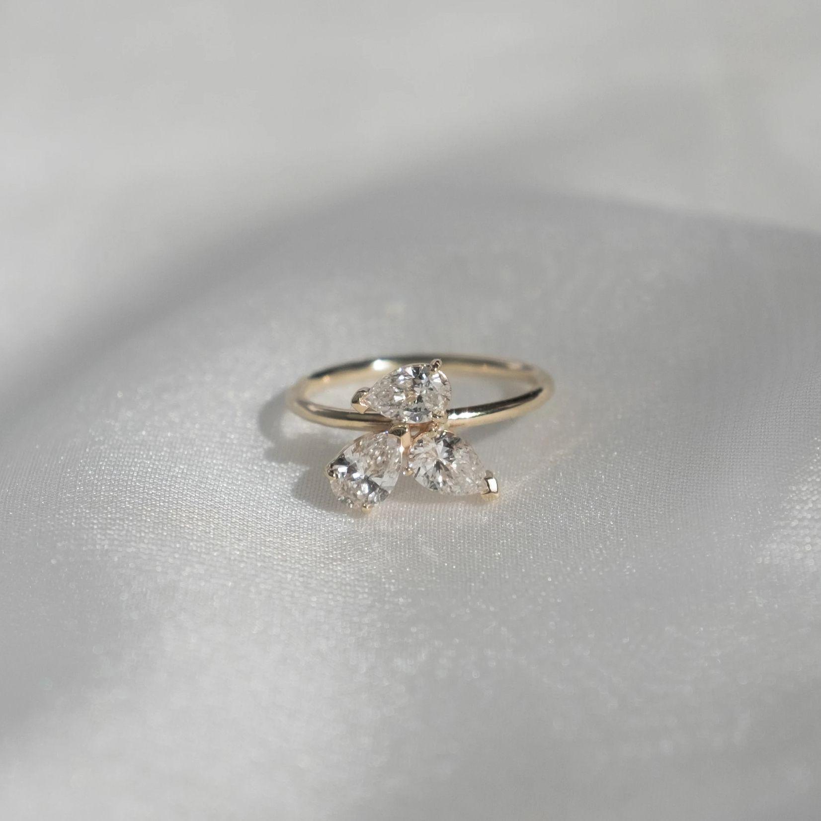 Grace Lee Triple Pear Ring