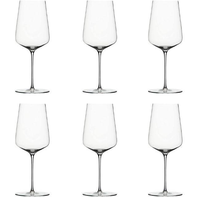 Zalto Denk'Art Universal Hand-Blown Crystal Wine Glasses, Boxed Set of 6