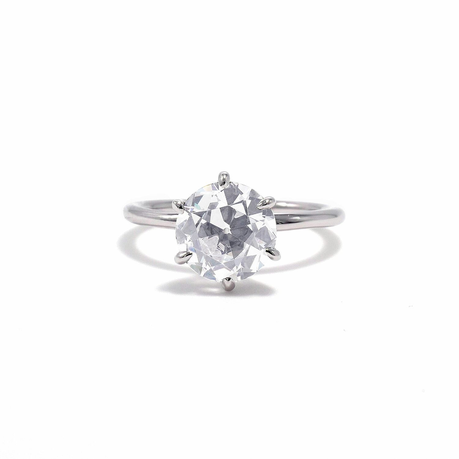 Ashley Zhang Victoria Old European Cut Engagement Ring