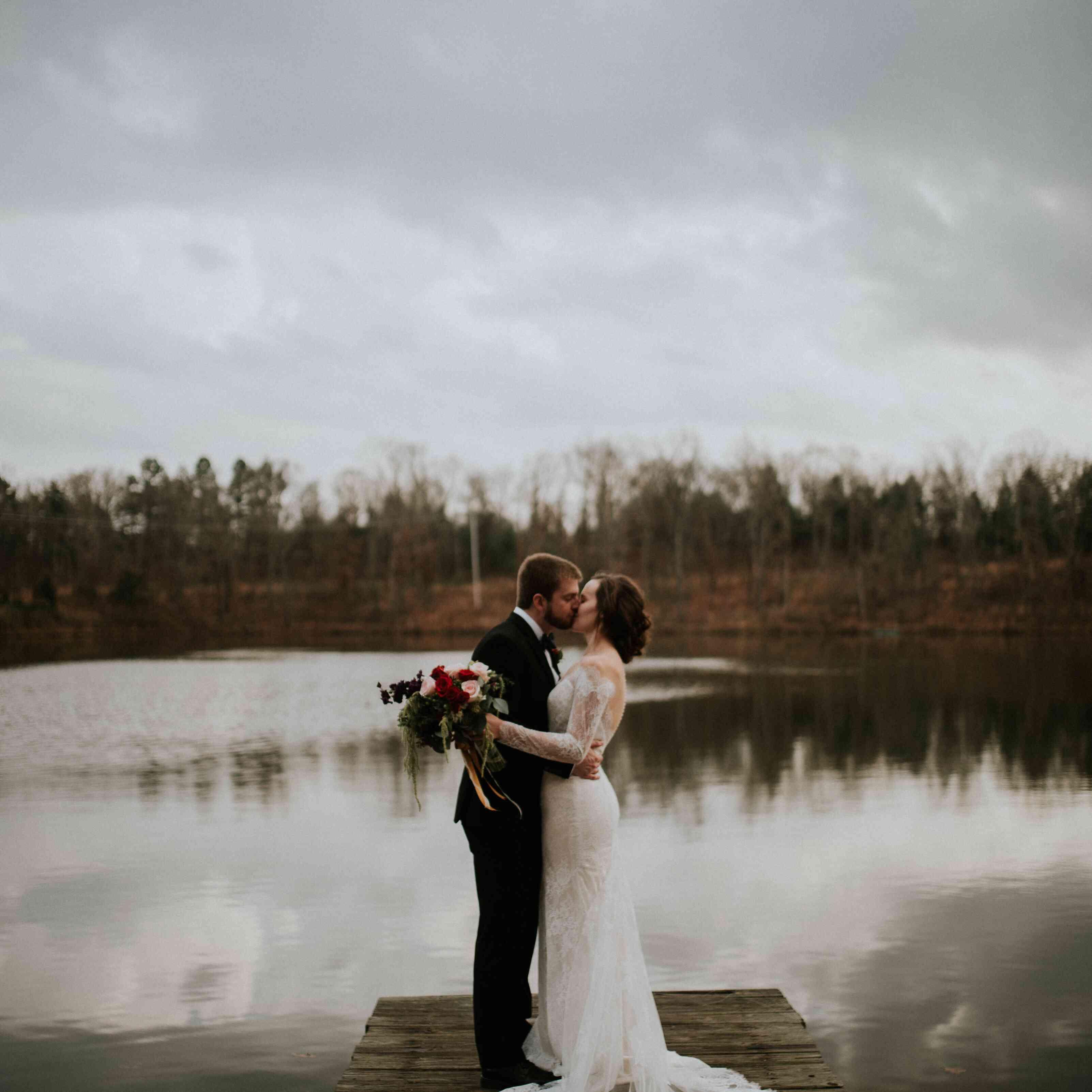 <p>Wedding photo at Camp Wyldewood in Arkansas</p>